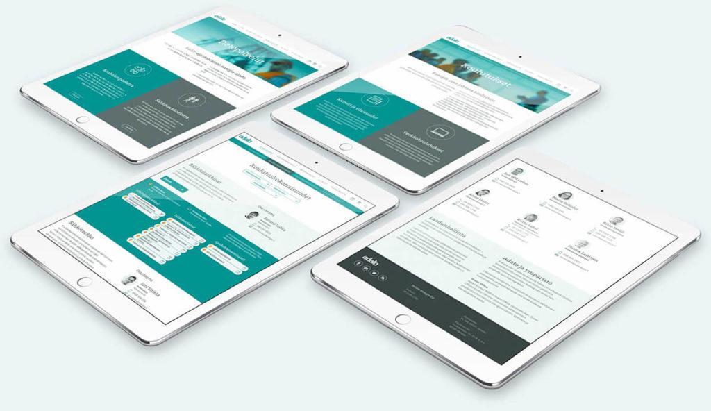 Modulaarinen ja helposti mukautettava sivusto, jota asiakas voi muokata tarpeidensa mukaisesti.