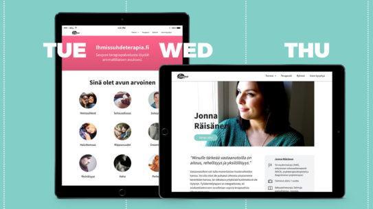 Sexpo – Uusi terapiasivusto rakentui design sprinttinä