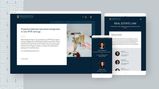 Properta – Näyttävä WordPress-saitti brändiä vahvistamaan