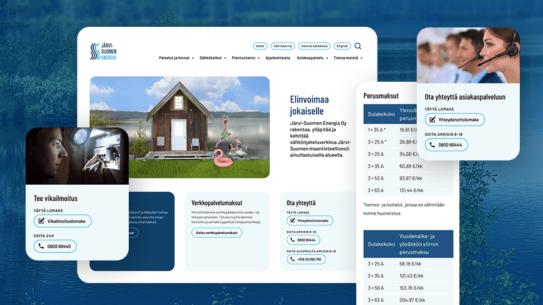 Järvi-Suomen Energia – Kankeasta informaatiokanavasta saavutettavaksi palvelualustaksi